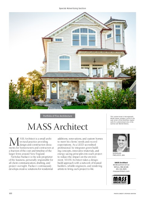 MASS Architects-Portfolio of Fine Architecture-2021-.indd